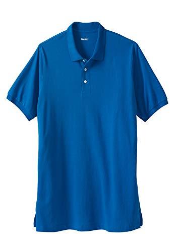 KingSize Men's Big & Tall Longer-Length Pique Polo Shirt, Royal Blue - Polo Pique Royal Blue