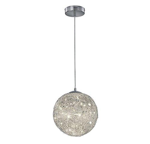 Arnsberg Thunder Aluminum LED Pendant Light with Globe (Thunder Satin)