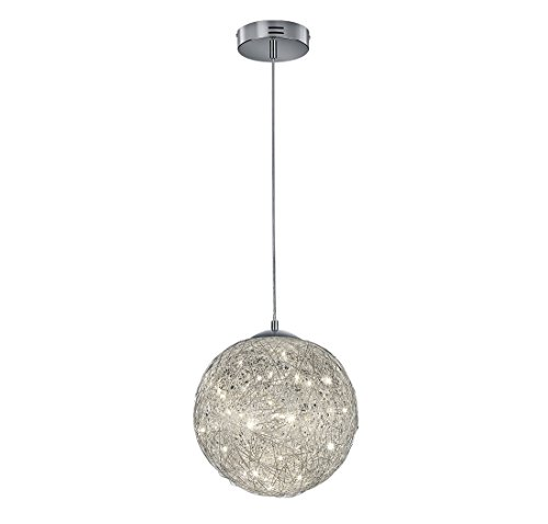 Arnsberg Thunder Aluminum LED Pendant Light with Globe Shade ()