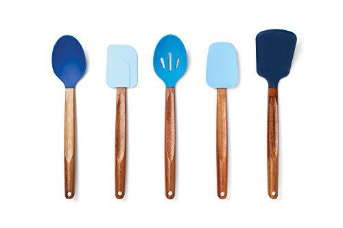 Fox Run 11716 Silicone Cooking Utensil Set, 3.5 x 3.5 x 14.5, Multicolored - Fox Run Silicone