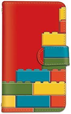 [bodenbaum] AQUOS zero2 SH-01M / SHV47 手帳型 スマホケース カード ミラー スマホ ケース カバー ケータイ 携帯 SHARP シャープ アクオス ゼロツー docomo au SoftBank ブロック柄 カラフル a-099 (C.レッド)