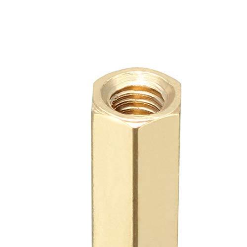 100pcs M3 26 6mm Male Female Thread Brass Hexagonal Spacer Screws Pillar PCB