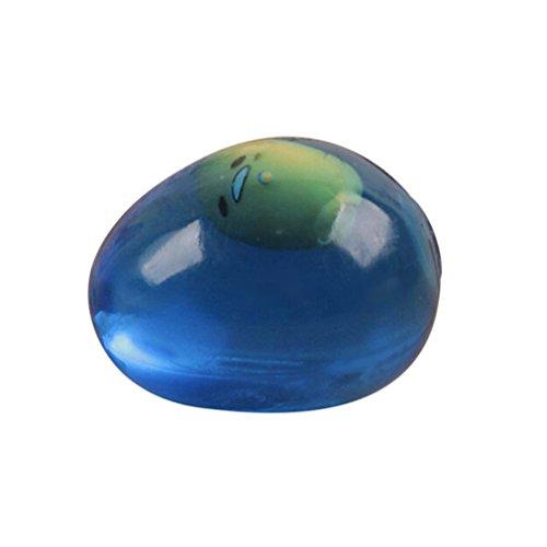 Creative Pudding/Transparent Egg Squeeze Healing Fun Kids Kawaii TPR Water Toy Stress Reliever Decor - Robiear (Egg-B) (Kawaii Halloween Transparents)