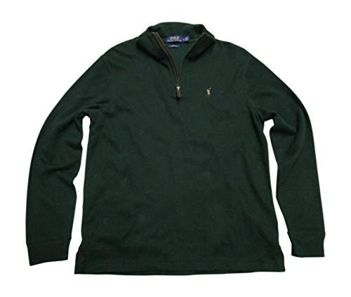 Polo Ralph Lauren Men's Estate-Rib Mockneck Cotton Pullover, Northwest Pine, Large ()