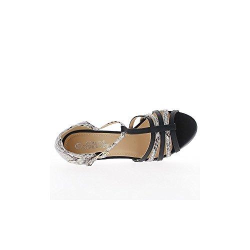 Mujer negra bi bombas color tacones de zapato frente y 12,5 cm
