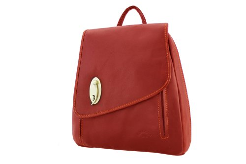 Katana - Bolso mochila  de Piel para mujer Negro - negro