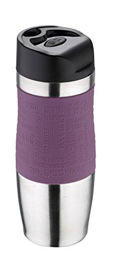 Bergner Thermobecher 400 ml violett Edelstahl mit Silikonhülle