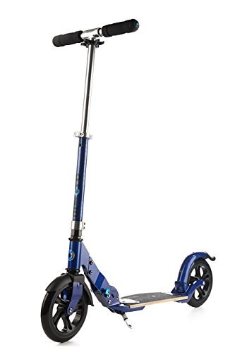 Micro Flex Series | 2-wheeled, smooth-gliding Micro scooter for adults | Flex deck | Ages 13 - adult, up to 220 lbs | Blue
