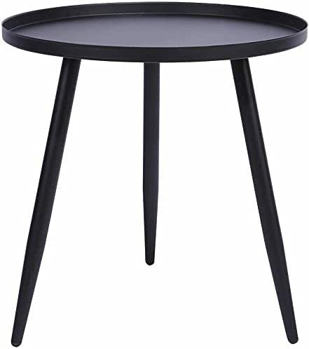 Metal Side End Table, Round Living Room Bed Snack Coffee Tray Table with 3 Legs Coffee Table Coffee Tables for Living Room Round Coffee Table Coffee Tables Coffee Table Decor Lift top Coffee Table