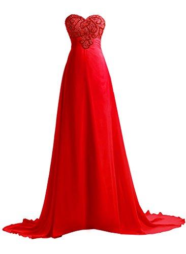 Nouvelle Étoile Élégantes Dressy Demoiselles D'honneur Des Femmes Longues Robes De Soirée Robes De Bal Formelle Rouge