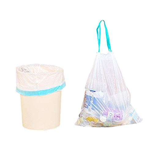 Trash-Bags Innovative Plastic Bag Kitchen Thickened Break Style Pe Automatic Closing Garbage Bag Drawstring Garbage Bunching Garbage Bag,Clear,Other