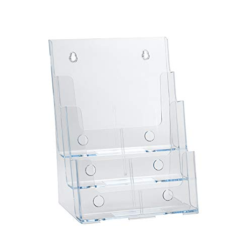 Azar 252378 Three-Tier Three-Pocket Letter Sized Brochure Holder