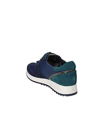 New Nylon Sneakers Gigi Running Jo 02 Chaussures Liu Cow Noir Bleu Femmes Suede Black 7BU1xw
