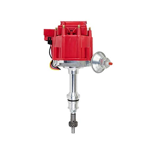 A-Team Performance Small Block 65K Coil HEI Complete Distributor Compatible With Ford 260 289 302 5.0 One Wire Installation