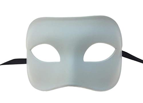 Paint Your Own White Eye Mask Adult Halloween Venetian DIY Costume Accessory ()