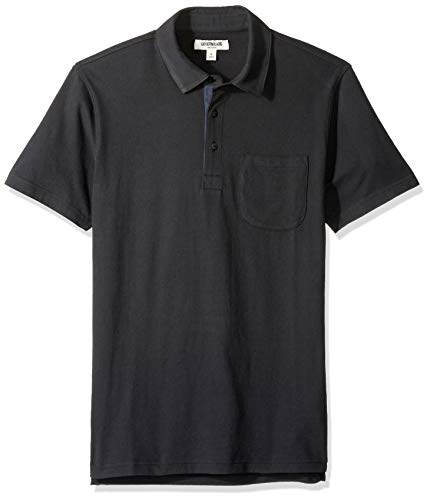 - Goodthreads Men's Short-Sleeve Sueded Jersey Polo, Black, XXX-Large