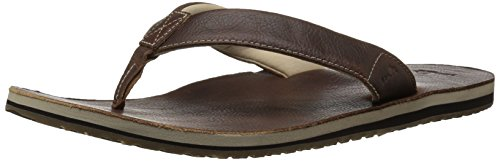 Sanuk Men's John DOE 2 Flip-Flop, Light Brown, 11 M US