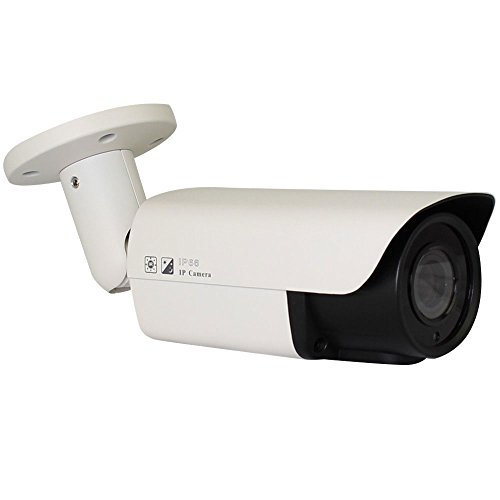 GW Security VDG2040IP HD Network ONVIF PoE 5MP 1080P Security Bullet IP Camera (White)
