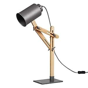 Amazon Com Tomons Led Desk Lamp Wooden Swing Arm Designer