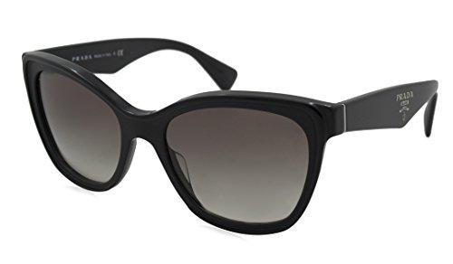 Prada Sunglasses - PR20PSA / Frame: Black Lens: Grey - Prada Oversized Frame Sunglasses Women's Plastic