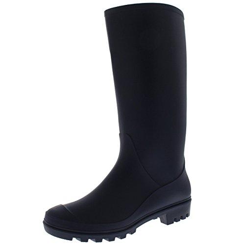 Rubber Boots (Womens Original Tall Winter Snow Wellingtons Muck Waterproof Boots - Navy - US9/EU40 - BL0277)