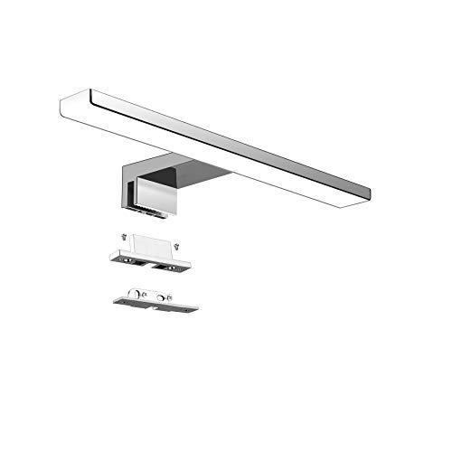 Aourow Lámpara de Espejo Baño LED 5W 230V 500lm,a Prueba de Agua IP44 30cm,3 en 1,Fije en el Espejo +en el Gabinete+en…