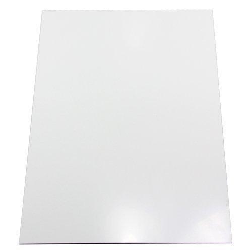 Magnet Expert - Foglio magnetico adesivo, per decorazione, formato A4, 297 x 210 x 0,85 mm, colore: Bianco brillante Magnet Expert Ltd F4MA4GW-1-AMZ