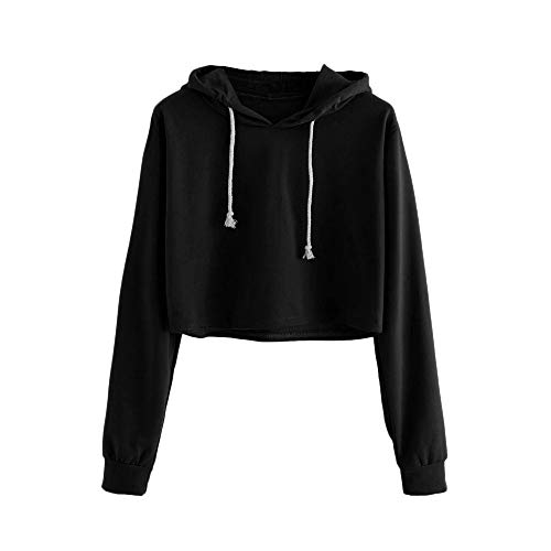 Womens Casual Color Block Long Sleeve Round Neck Pocket T Shirts Blouses Sweatshirts Tops Black