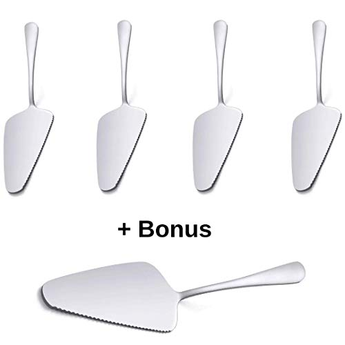 (The MasDus Best Cake Server Set Pie Server Cake Cutter Cake cutter and Server Stainless Steel Cake Slicer Pizza Server Cake Lifter Set 4)
