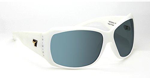 7eye by Panoptx Natasha Frame Sunglasses with Polarized Gray Lens, Glacier White, - Natasha Sunglasses