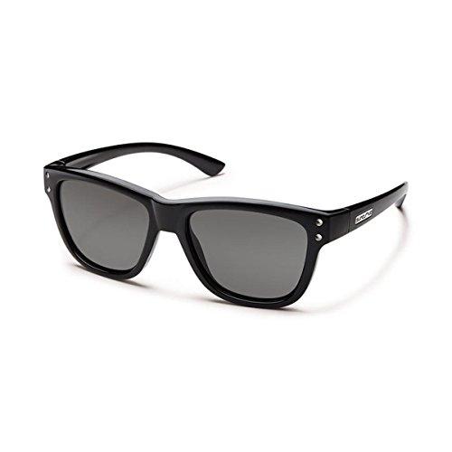 Suncloud Carob Polarized Sunglasses, Black - Ray Faces Bans Small For