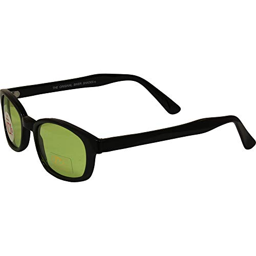 Pacific Coast Sunglasses 1126 Black/Green One Size Biker Sunglasses