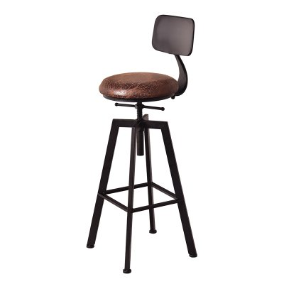 Amazon Com Alus Iron Bar Chairs Industrial Wind Rotten Bar Stool