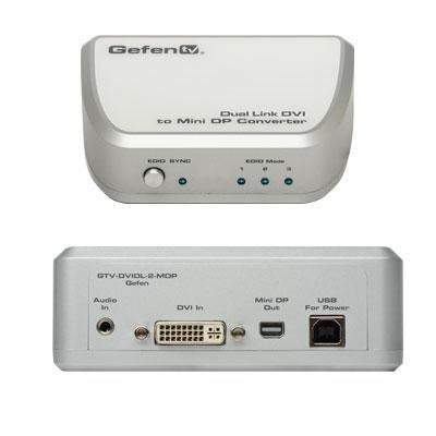 Gefen GTV-DVIDL-2-MDP | Dual Link DVI to Mini DP Converter by Gefen