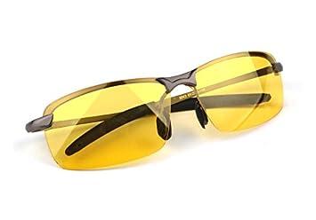 dersoning Hombres Gafas anti-éblouissant gafas de visión nocturna Gafas polarizadas Gafas de sol