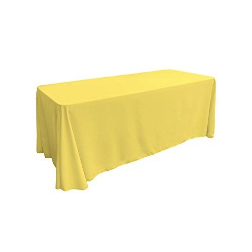 LA Linen Polyester Poplin Rectangular Tablecloth 90