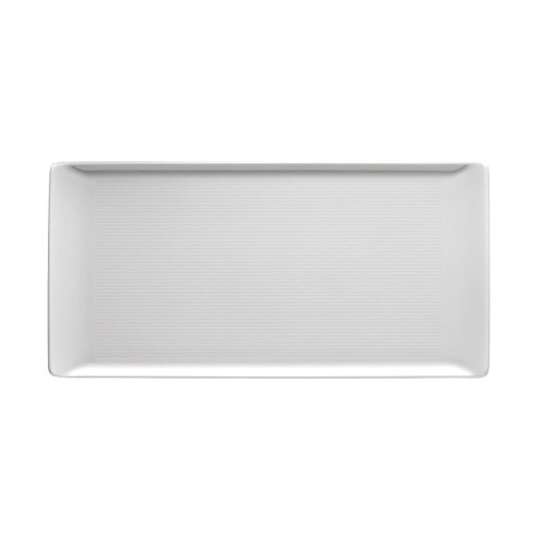 (Thomas Loft Plate, Serving Plate, Angular, Flat, Porcelain, White, Dishwasher Safe, 30 x 15 cm, 12385 )