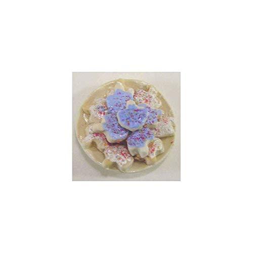 Dollhouse Miniature Plate Of Dreidel Cookies