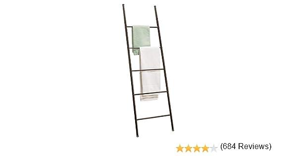mDesign - Toallero-escalera, autónomo, para el cuarto de baño - 5 barras - Bronce: Amazon.es: Hogar