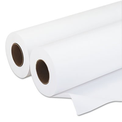Paper, 20 lbs., 3'' Core, 24''x500 ft, White, 2/Carton, Sold as 1 Carton, 2 Roll per Carton (Inkjet 24' Wide Roll)