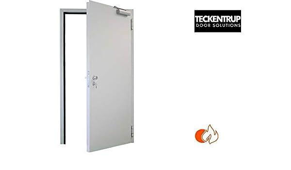 1000 x 2125 derecha T30 puerta de protección contra incendios 125 mm marco de circunferencia para construcción ...