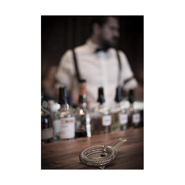 Buddy's Bar - Boston Bar Set, 700 ml, Boston Cocktail Shaker, misurino da Bar, pestello, Strainer, Set da Bar con… 6 spesavip
