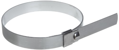 BAND-IT-UL2289-Ultra-Lok-34-Wide-x-0030-Thick-9-Diameter-201-14-Hard-Stainless-Steel-Preformed-Clamp-10-Per-Box