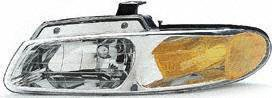 96-99 PLYMOUTH GRAND VOYAGER HEADLIGHT LH (DRIVER SIDE) VAN, Without Quad Lamps (1996 96 1997 97 1998 98 1999 99) 20-3164-88 4857041AB