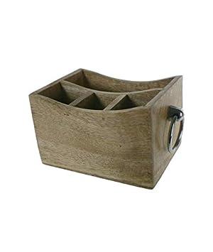 CAL FUSTER - Caja contenedor de Madera con separadores y Asas. Medidas: 13x25x16 cm.: Amazon.es: Hogar