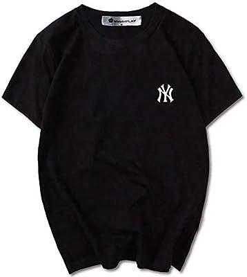 CPAI Unisex Teens MLB NY Yankees Camiseta de Manga Corta Ocio Deportes Béisbol Camiseta de algodón para Hombres y Mujeres,Negro,M: Amazon.es: Hogar