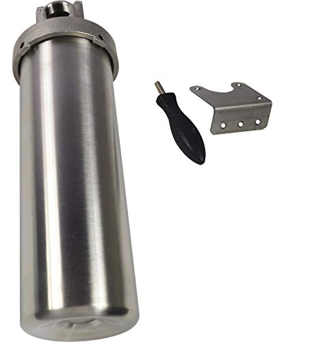 TECHTONGDA 304 SS Filter Shell Housing for 10'' L Cartridges 1'' NPT Port Corrosion-Resistant by TECHTONGDA