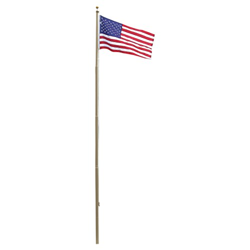 Super Tough Heavy Duty 20ft Residential Flag Pole (Bronze Powder Coated)