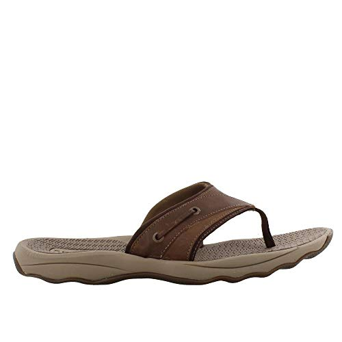 (SPERRY Men's, Outer Banks Thong Sandals Brown Chocolate 11 M)