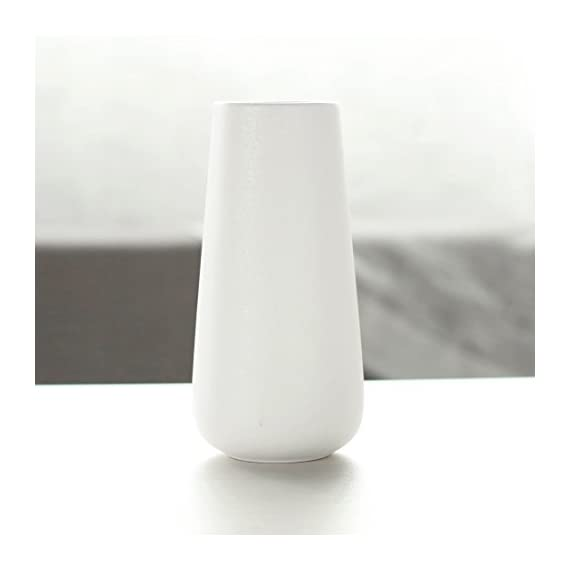 D'vine Dev 8 Inch White Ceramic Vase for Flowers - Home Decor Vase Table Centerpieces Vase - Gift Box Packaged - D'VINE DEV - D'vine Dev branded ceramic vase products, made with high quality porcelain ceramics. Elegant design and superior quality from professional ceramics development and engineering team. ELEGANT DESIGN - Matte white coated/glazed finishing with simple modern vase shape, it can perfect match a variety of decor accents. Ideal for both fresh bouquets and greenery silk flowers, or floral arrangement. GIFT BOX PACKAGED - The vase is gift box packaged, ideal gift ready for friends and family, wedding, bridal shower and holiday gift options. The white color matches everything and anywhere around home décor, this pure matte white ceramic vase also makes a wonderful table centerpieces for wedding, parties and special occasions. - vases, kitchen-dining-room-decor, kitchen-dining-room - 31E5Mk7 slL. SS570  -